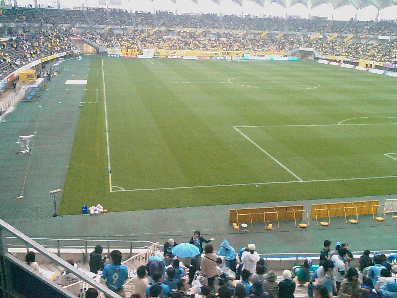 スタジアム内。